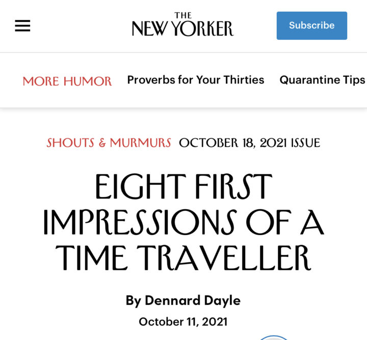I'm in the New Yorker. No, really.